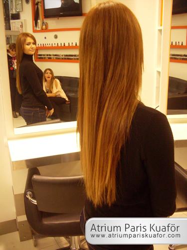 dolgun görünümlü saçlar için ip uçları