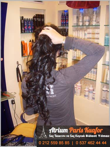 saçları yıkamak